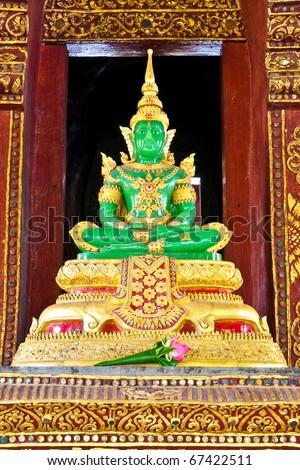 The Emerald Buddha ,  Wat Phrasing, Chiangmai, Thailand - stock photo