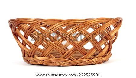 The empty Easter basket  - stock photo