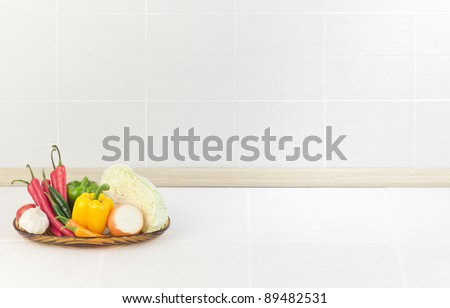 The empty space in the kitchen nice to put some text or idea on it - stock photo