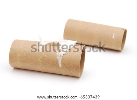the empty toilet papers