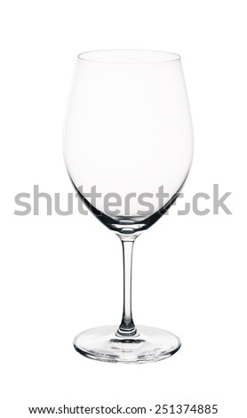 The Empty wine glass. isolated on a white background