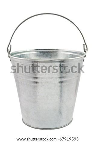 The empty zinced bucket - stock photo
