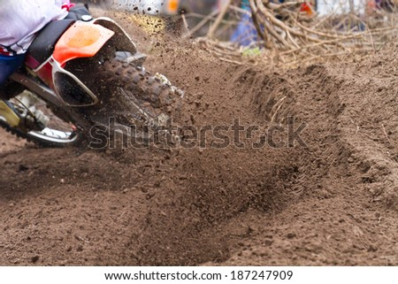 The end of the Motor Cross - stock photo
