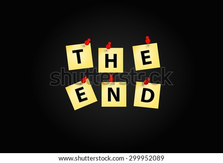 The End Screen Design Template  Illustration  - stock photo