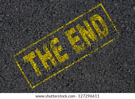 The end stamp background