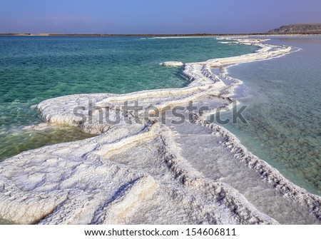 The endless expanses of the Dead sea - Israel - stock photo