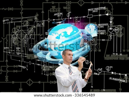 The engineering Connect technology - stock photo