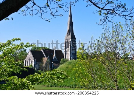 The English Church, Copenhagen - stock photo