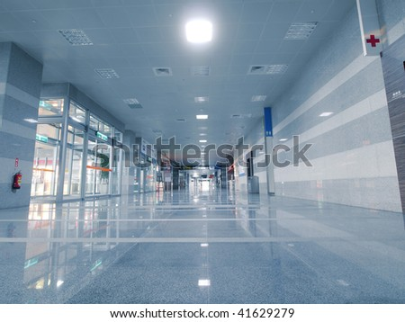 The entrance to subway station - stock photo