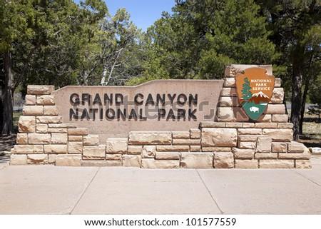The entrance to the Grand Canyon National Park, Arizona, USA - stock photo