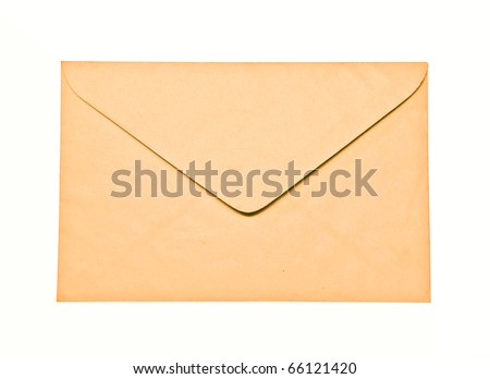 The Envelope isolated on white background