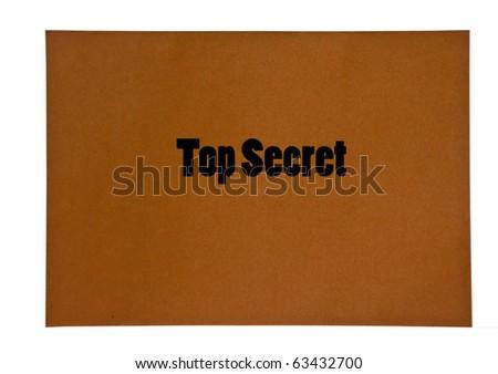 The Envelope of top secret - stock photo
