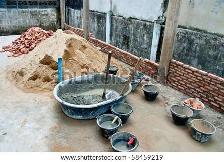 The Equipment of Builder - stock photo