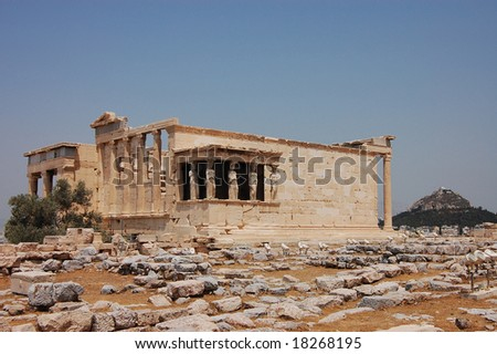 The Erechtheum - ancient Greek temple on the Acropolis