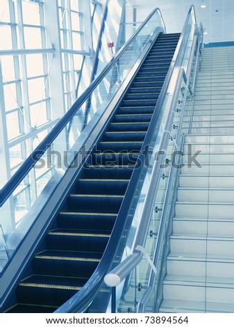 The escalator - stock photo