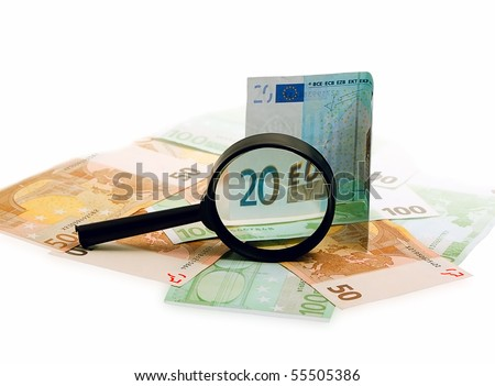 The euro isolated on a white background. - stock photo