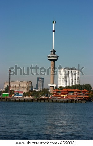 The Euromast Tower, Rotterdam, Holland - stock photo