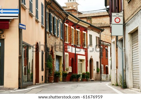 the europe street - stock photo