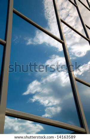 The facade of a modern building - stock photo