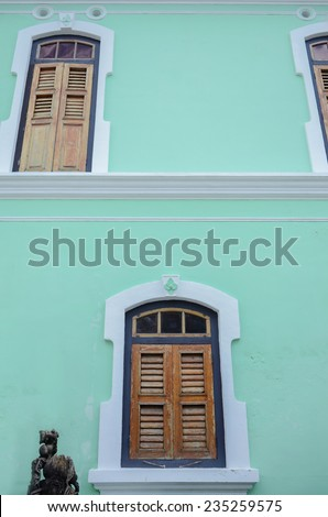 The facade of Peang Peranakan Mansion, - stock photo