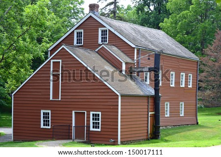 The Factory Building in Historic Speedwell in Morristown, NJ - stock photo