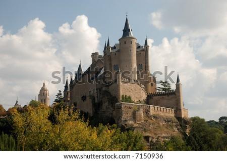 The famous Alcazar (Castle) of Segovia, Spain - stock photo
