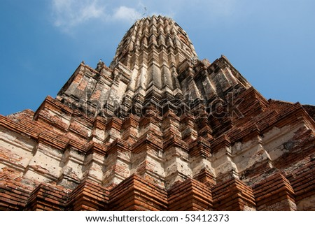 The famous ancient temple Chaiwatthanaram Ayutthaya Thailand. - stock photo