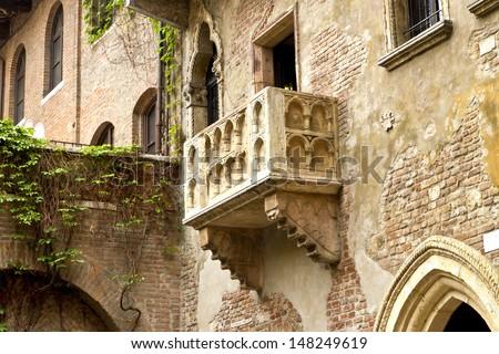 The Famous Balcony of Juliet and romeo, Verona, italy - stock photo