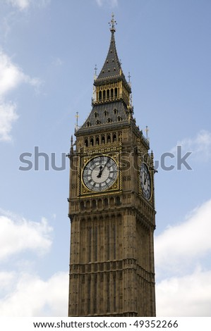 The famous Big Ben in London