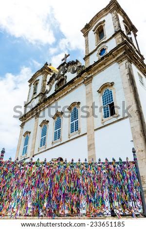 The famous Bonfim Church in Salvador, Bahia, Brazil. - stock photo