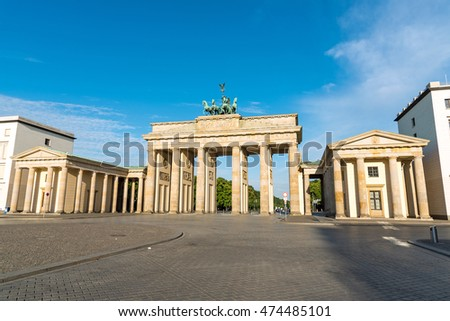 The famous Brandenburg Gate in Berlin, Germany