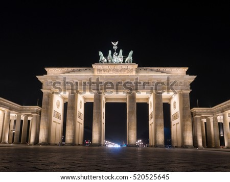 The famous Brandenburger Tor, one of the best-known landmarks and national symbols of Germany