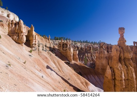 The famous brice canyon national park in utah - stock photo