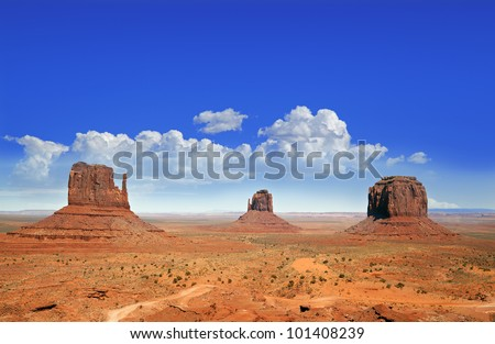 The famous Buttes of Monument Valley, Utah, USA - stock photo