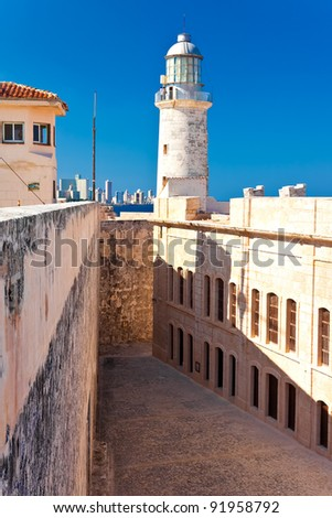 The famous castle and lighthouse of El Morro,a  symbol of Havana