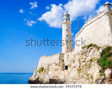 The famous castle of El Morro in Havana, Cuba - stock photo