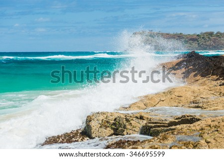 The famous Champage Showers on Fraser Island - stock photo