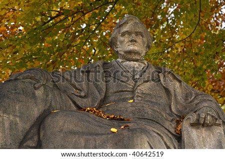 "The famous composer ""Richard Wagner"" in Munich - stock photo"