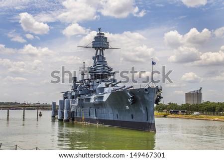 The Famous Dreadnought Battleship Texas - stock photo