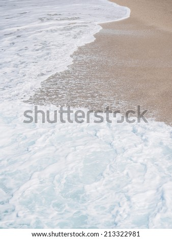 The famous Egremni beach (Lefkada,Greece) - stock photo