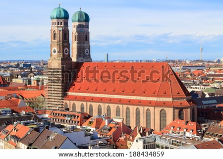 The famous Frauenkirche in Munich, Germany - stock photo