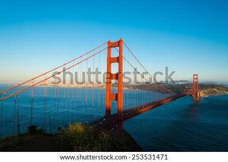 The famous Golden Gate Bridge in San Francisco California, USA - stock photo