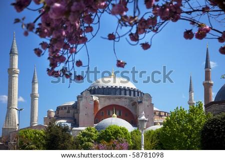 The famous Hagia Sophia in Istanbul, Turkey - stock photo