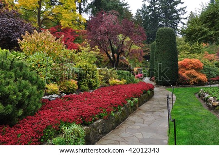 the famous historic butchart gardens, vancouver island, british columbia, canada