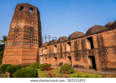 The famous Katra mosque where the tomb of the first Nawab of Bengal, Murshid Quli Khan, is buried in Murshidabad. - stock photo