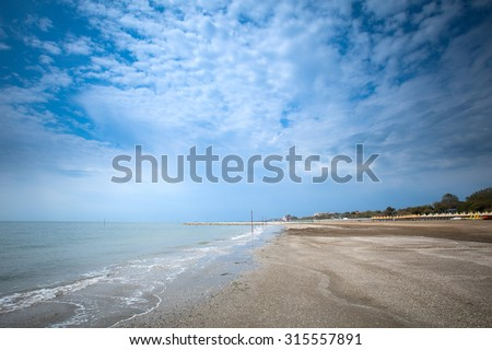 The famous Lido Beach of Venice, Italy. - stock photo