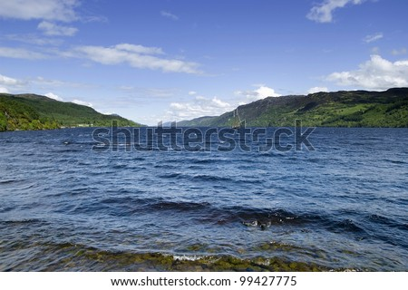 The famous Loch Ness in the scottish highlands. - stock photo