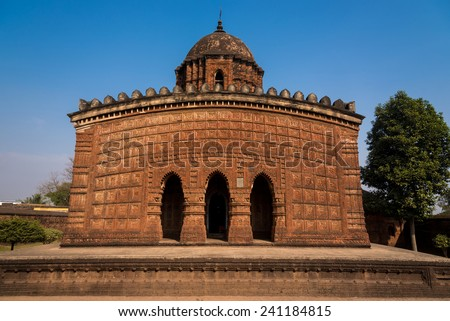 The famous Madan Mohan temple located in Bishnupur, West Bengal, India - stock photo