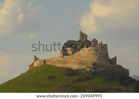 The famous medieval fortress citadel in Rupea, Brasov, Transylvania, Romania  - stock photo
