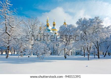 The famous monument of Kievan Rus XI century - stock photo